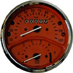 Orange Colored Gauge